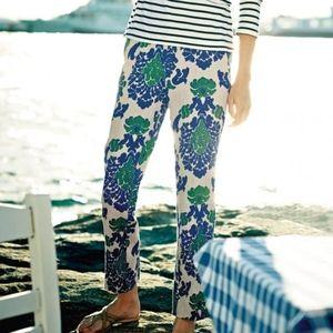 Boden Linen Sorrento Ankle Skimmer Pants Floral 4R